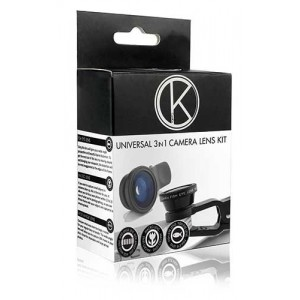 Kit Objectifs Fisheye - Macro - Grand Angle Pour Lenovo K6 Power