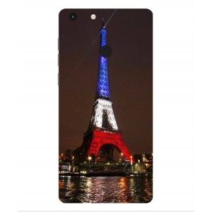 Coque De Protection Tour Eiffel Couleurs France Pour Archos 55 Diamond Selfie
